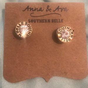 NEW Anna & Ava Southern Belle Bullet Stud Earrings